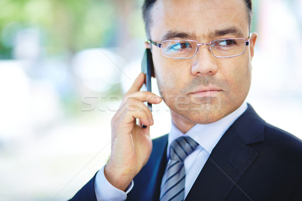 Man with cellphone Stock photo © pressmaster