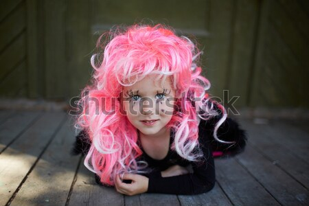 Girl with pink hair Stock photo © pressmaster