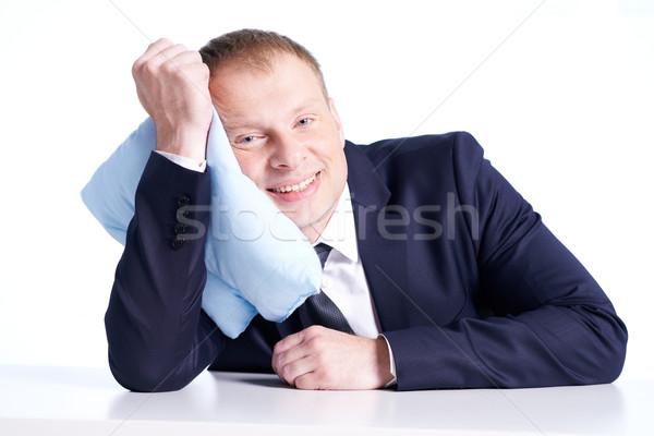 Businessman with pillow Stock photo © pressmaster
