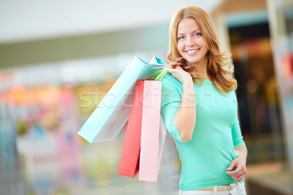 Girl with shopping bags Stock photo © pressmaster