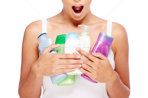 Greedy for toiletries Stock photo © pressmaster