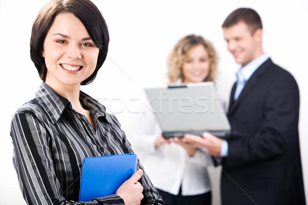 Anziehend Berater Porträt freundlich Lächeln zwei Stock foto © pressmaster