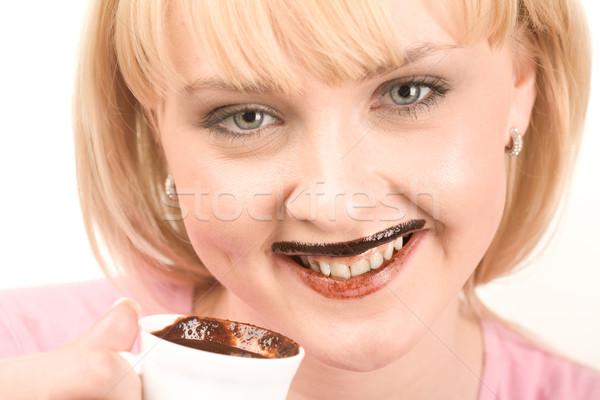 Drinking hot chocolate Stock photo © pressmaster