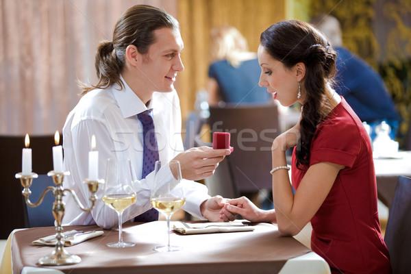 Wniosek obraz elegancki człowiek piękna kobieta Zdjęcia stock © pressmaster