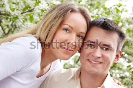 Сток-фото: человека · счастливым · женщину · красивый · мужчина