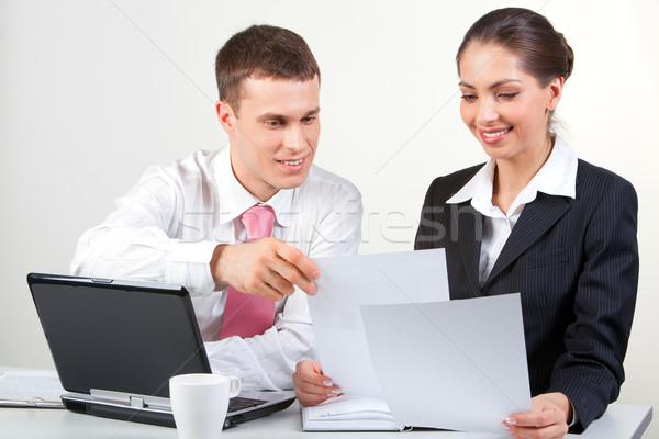 Trabalho em equipe retrato pessoas de negócios negócio sorrir Foto stock © pressmaster