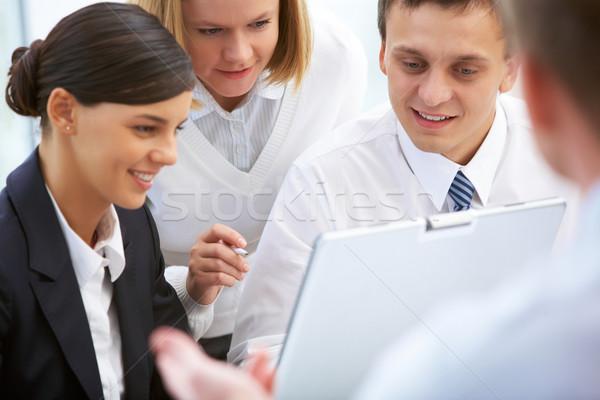 Grupo trabalhar foto pessoas de negócios trabalhando negócio Foto stock © pressmaster