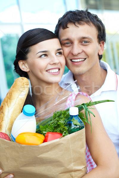 Compras casal retrato feliz homem Foto stock © pressmaster