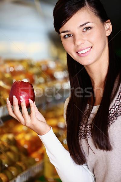 Elma görüntü mutlu kadın taze Stok fotoğraf © pressmaster