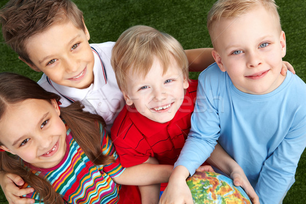 Happy little friends Stock photo © pressmaster
