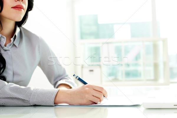 Making business notes Stock photo © pressmaster