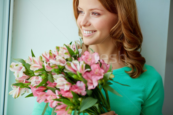 Tendresse printemps portrait souriant Homme Photo stock © pressmaster