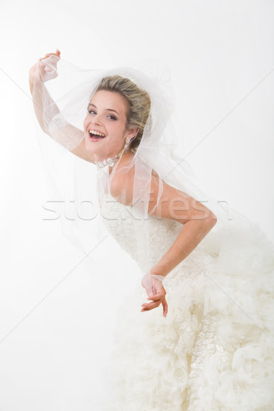 Gioia foto felice sposa guardando fuori Foto d'archivio © pressmaster