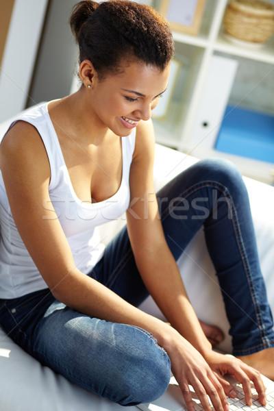 девушки сетей изображение молодые африканских набрав Сток-фото © pressmaster