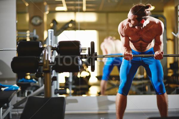 Kulturysta siłowni portret topless człowiek Zdjęcia stock © pressmaster