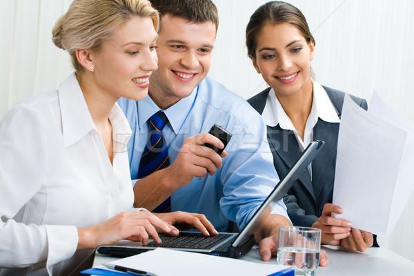 Zespół firmy trzy osoby pomysły działalności kobieta Zdjęcia stock © pressmaster