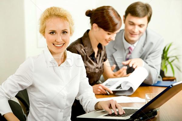 Attractive office worker Stock photo © pressmaster