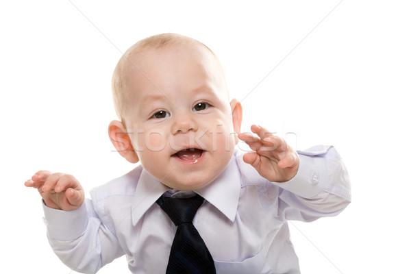 Mały szef portret baby chłopca Zdjęcia stock © pressmaster