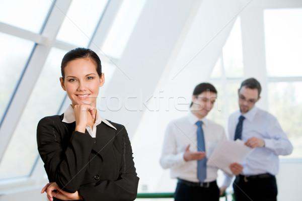 Stockfoto: Aantrekkelijk · business · dame · naar · camera