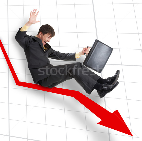Dalen zakenman bewegende beneden pijl business Stockfoto © pressmaster