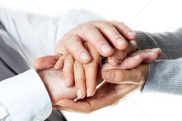 любителей стороны контакт поддержки мужчины Сток-фото © pressmaster
