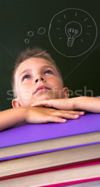 Pupil in library Stock photo © pressmaster