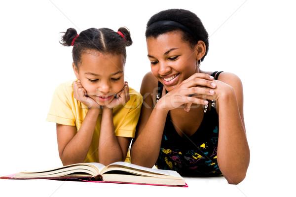 Сток-фото: читать · книга · изображение · женщину · девушки · чтение