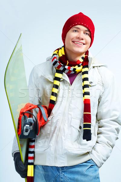 Happy snowboarder Stock photo © pressmaster