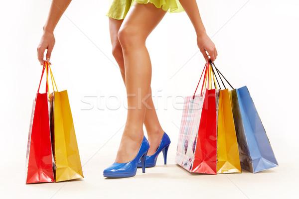 Stok fotoğraf: Iyi · alışveriş · bacaklar · bayan · ayakta