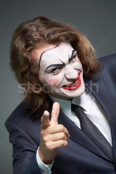 üzletember portré színpadi smink mutat kamera Stock fotó © pressmaster