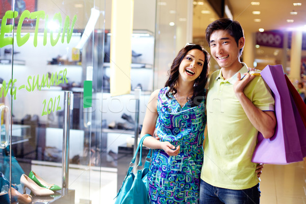 Happy shoppers Stock photo © pressmaster