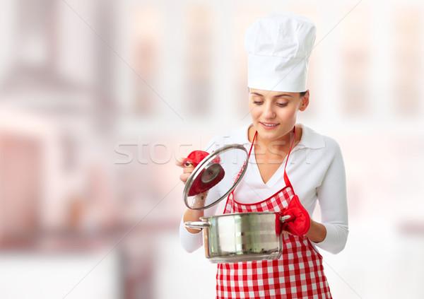 Woman with pan Stock photo © pressmaster