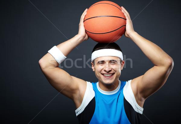 Vent bal portret knap sportkleding mand Stockfoto © pressmaster
