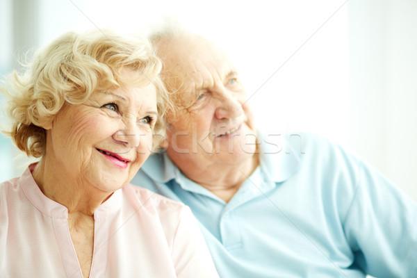 Bájos idős női közelkép portré idős nő Stock fotó © pressmaster