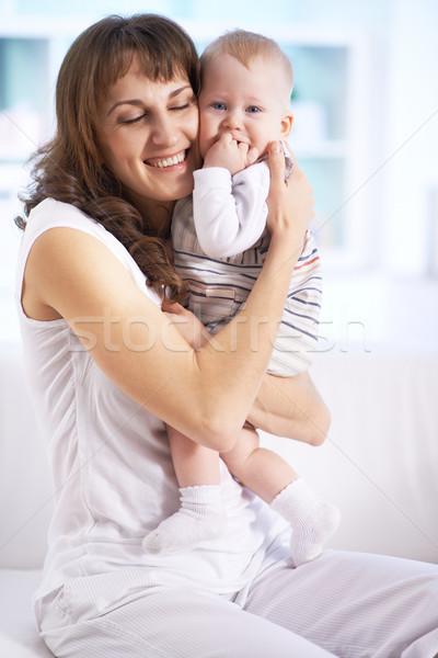 Afecto retrato feliz mujer pequeño Foto stock © pressmaster