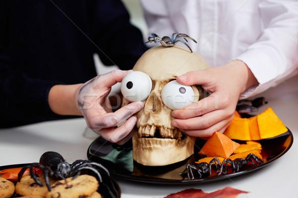 Halloween skull Stock photo © pressmaster