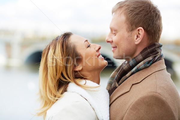 Attrakció portré szeretetteljes pár néz egy Stock fotó © pressmaster