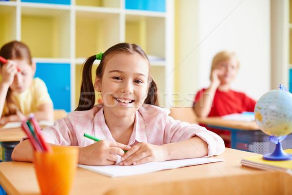 Stock photo: Happy schoolgirl
