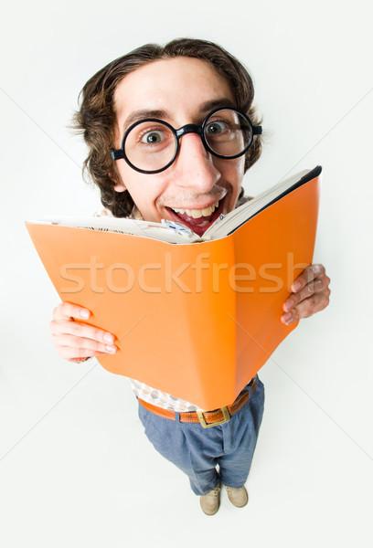 умный студент портрет улыбаясь мужчины очки Сток-фото © pressmaster