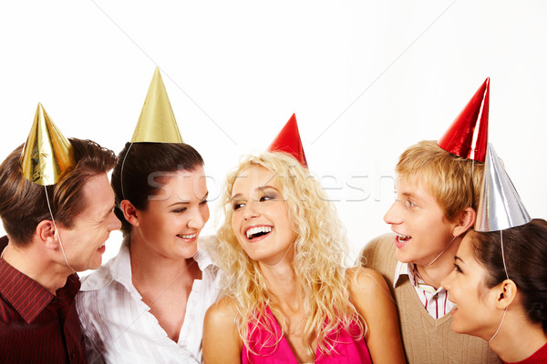 Stock photo: Joyful company