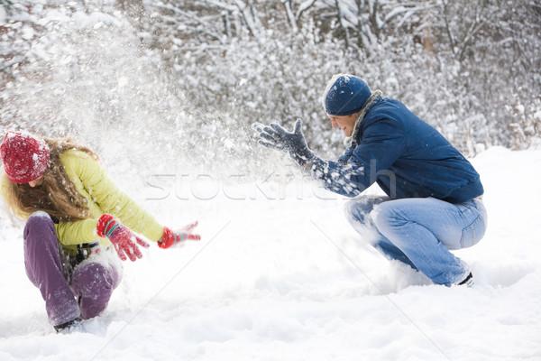 Snow play Stock photo © pressmaster