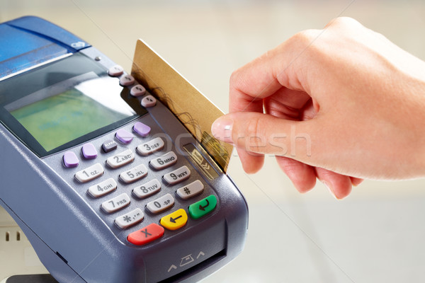 Pago primer plano momento tarjeta de crédito negocios compras Foto stock © pressmaster