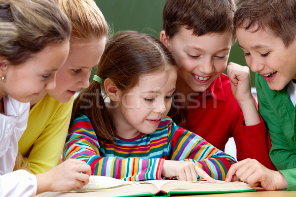 Reading kids Stock photo © pressmaster