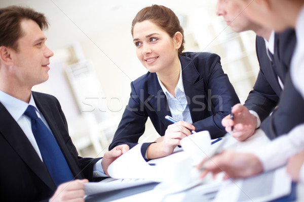 Attentive woman Stock photo © pressmaster