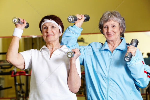 Portret twee senior vrouwen Stockfoto © pressmaster