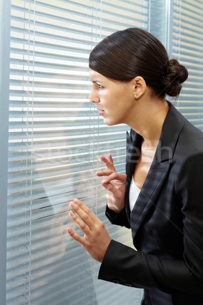 Wat afbeelding onzeker zakenvrouw naar business Stockfoto © pressmaster