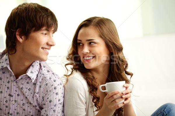 Guardare felice amanti guardando altro Foto d'archivio © pressmaster