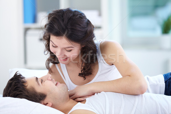 Waking up together Stock photo © pressmaster