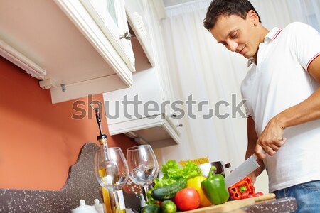 Together at kitchen Stock photo © pressmaster