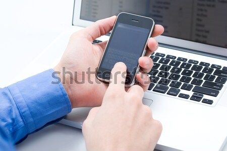 Touching sensor screen Stock photo © pressmaster